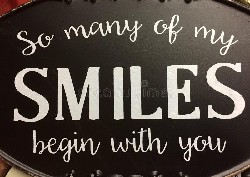 Ładna porada w ten sposób dużo mój uśmiechy zaczyna z tobą obraz stock