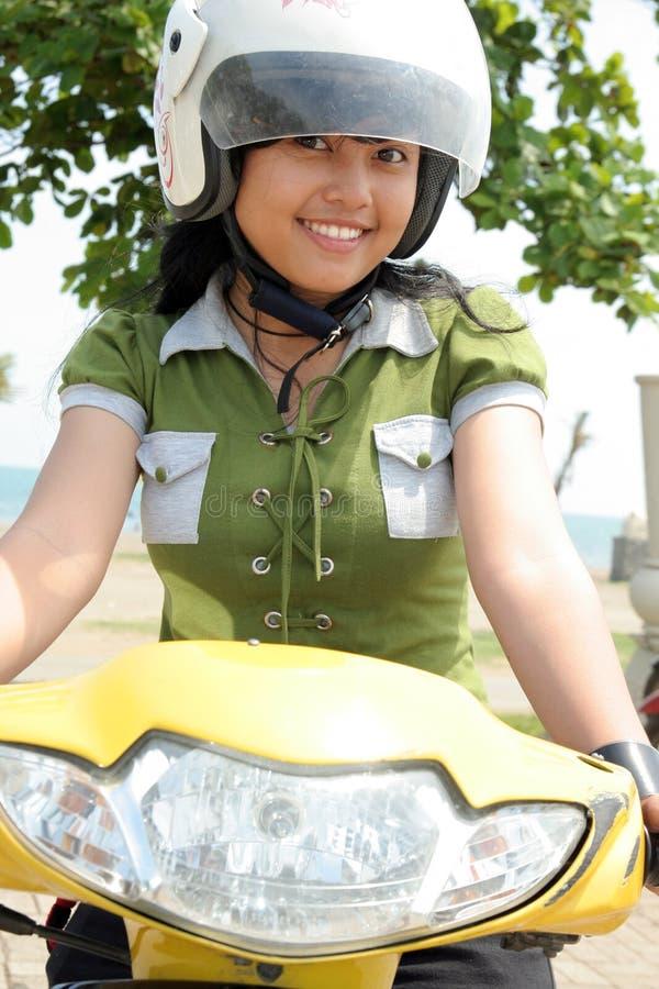 ładna rower kobieta zdjęcie stock