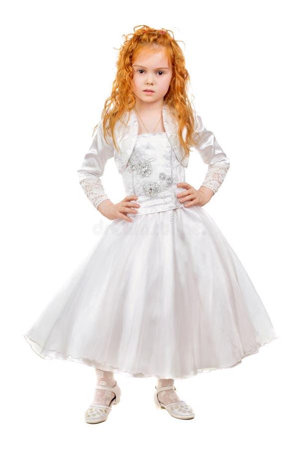Ładna rudzielec mała dziewczynka obraz stock