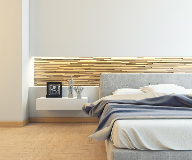 Ładna sypialnia ilustracji