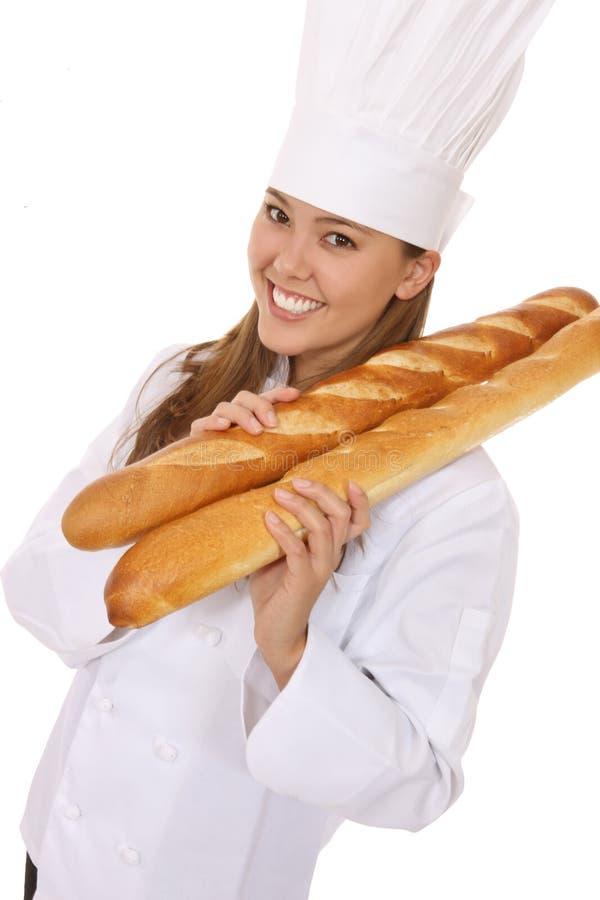 ładna szef kuchni kobieta zdjęcie stock