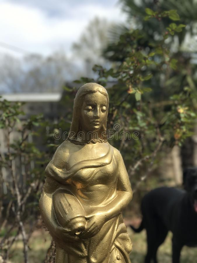 Ładna złocista statua zdjęcie royalty free