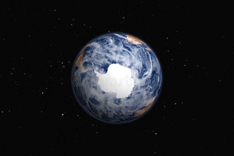 Ładna ziemia Antarktyczny royalty ilustracja