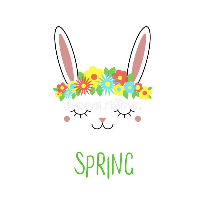 ładne kwiaty królików royalty ilustracja
