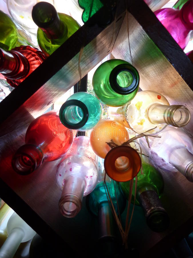 Ładne Szklane butelki fotografia stock