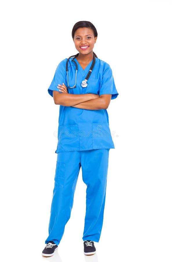 Amerykanin afrykańskiego pochodzenia pielęgniarka obraz royalty free