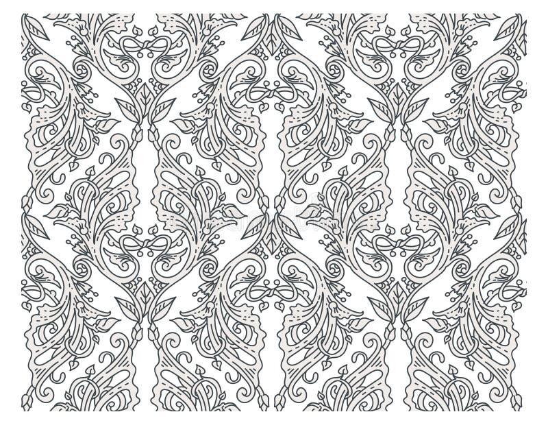 ładnego ornamentu retro rocznika tapeta ilustracja wektor