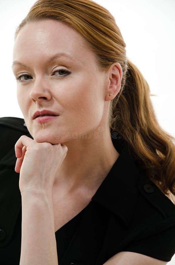 Ładnej atrakcyjnej brunetki europejski caucasian zdjęcia royalty free
