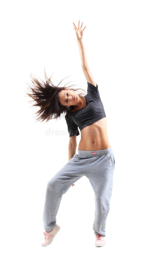 Ładnej Hip-hop stylu nastoletniej dziewczyny skokowy taniec fotografia royalty free