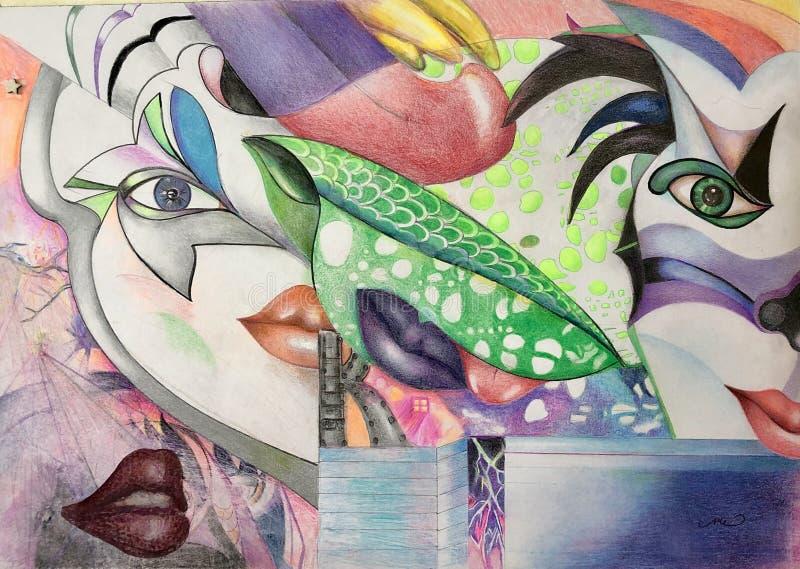 ładni buziaki ilustracja wektor