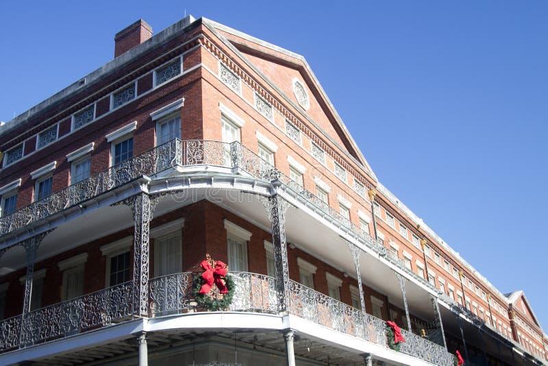 Ładni historyczni budynki w mieście Nowy Orlean obraz royalty free