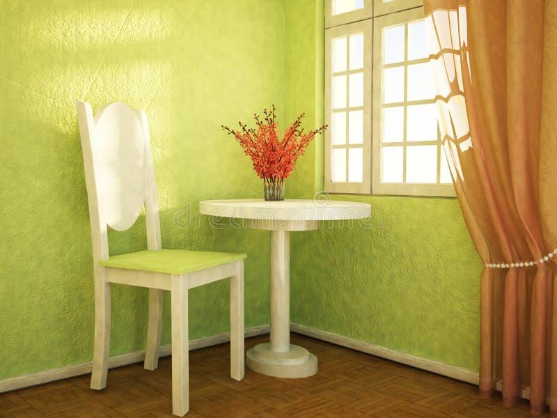 Download Ładni kwiaty są na stole ilustracji. Ilustracja złożonej z architektoniczny - 41954951