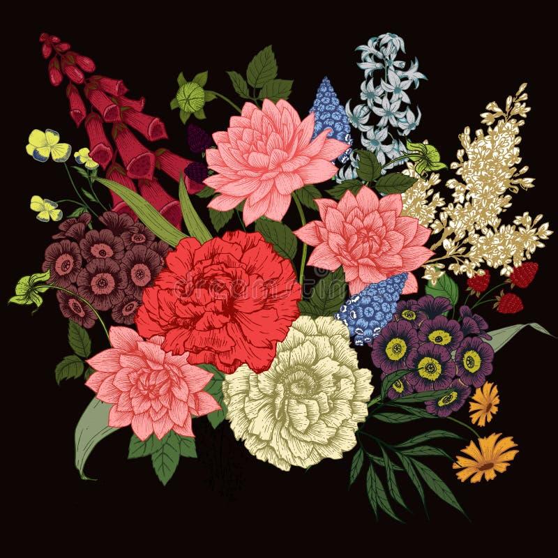 Ładni wektorów kwiaty ilustracja wektor