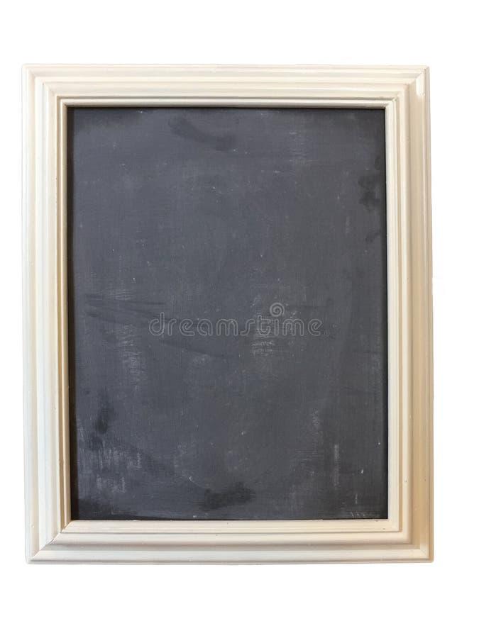 Ładny blackboard z białą drewnianą ramą zdjęcia stock