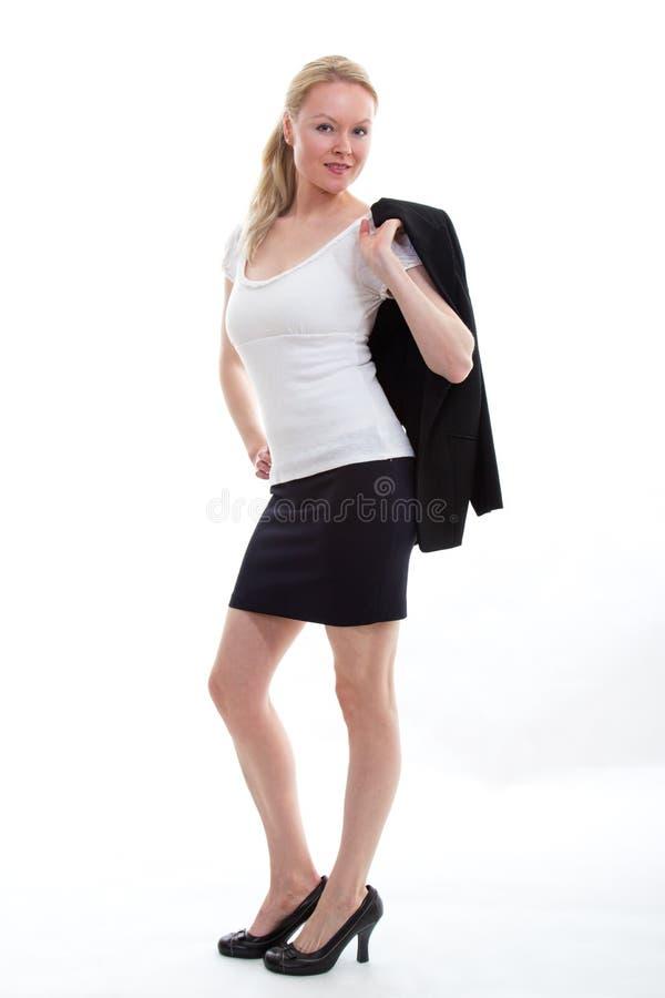Ładny blond bizneswoman zdjęcie stock