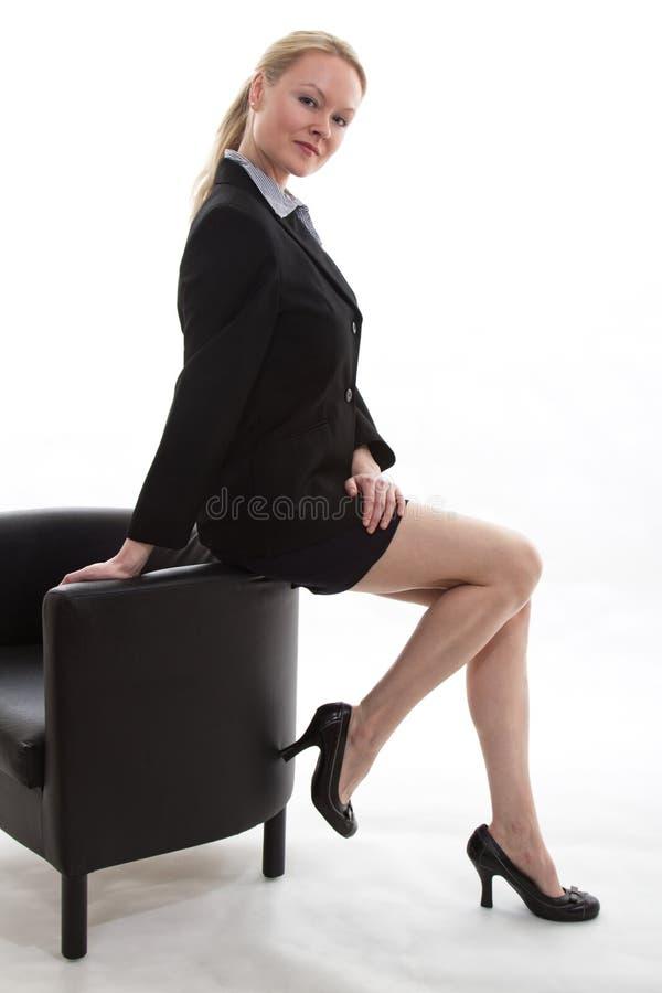 Ładny blond bizneswoman fotografia stock