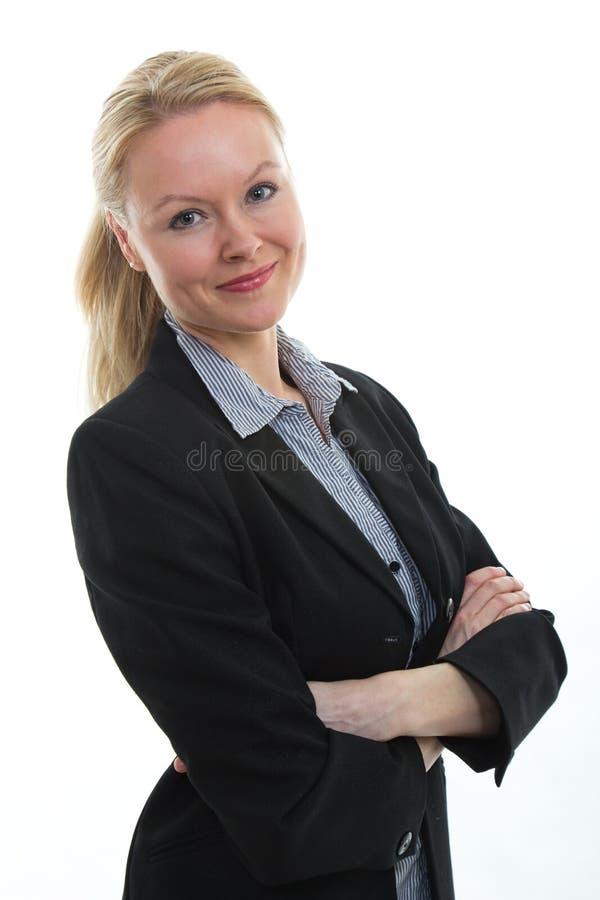 Ładny blond bizneswoman fotografia royalty free