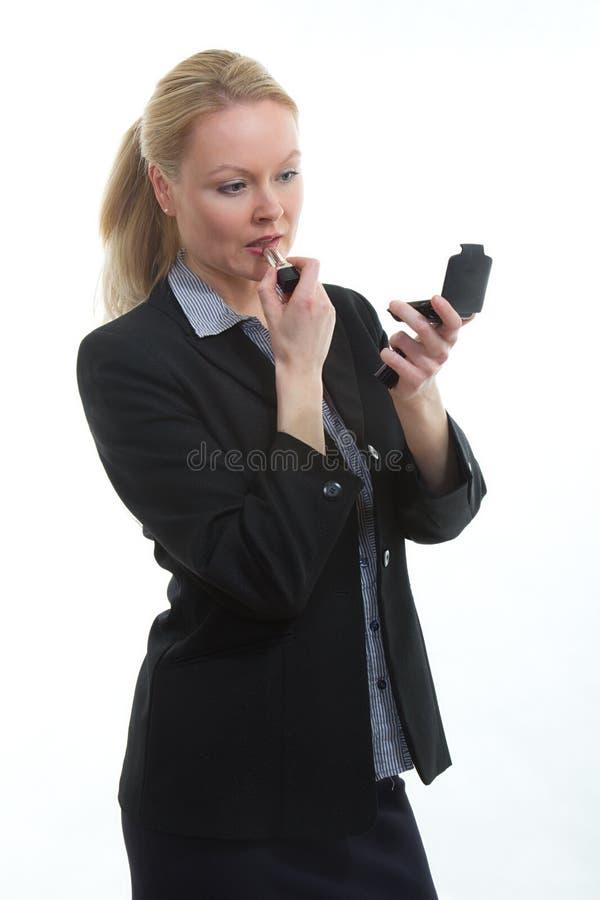 Ładny blond bizneswoman obrazy stock