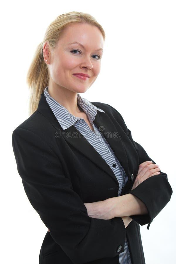Ładny blond bizneswoman obraz stock