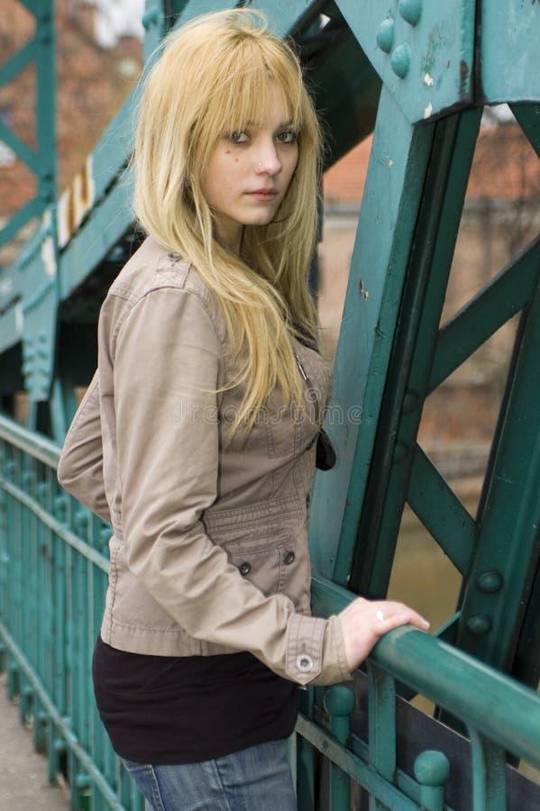 ładny blondynka nastolatek obrazy royalty free