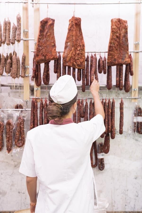 Ładny Butchery kobiety działanie zdjęcie royalty free