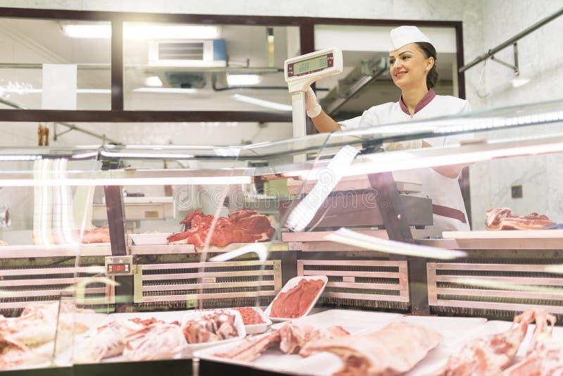 Ładny Butchery kobiety działanie zdjęcia royalty free