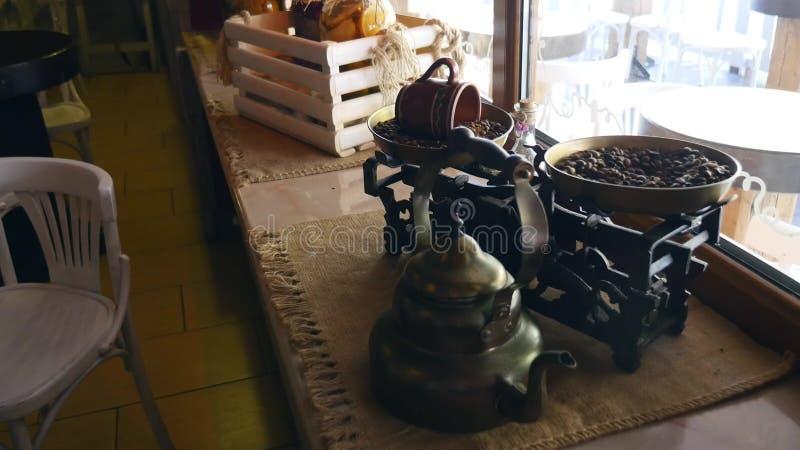 Ładny cukierniany wnętrze w Chernivtsi obrazy stock