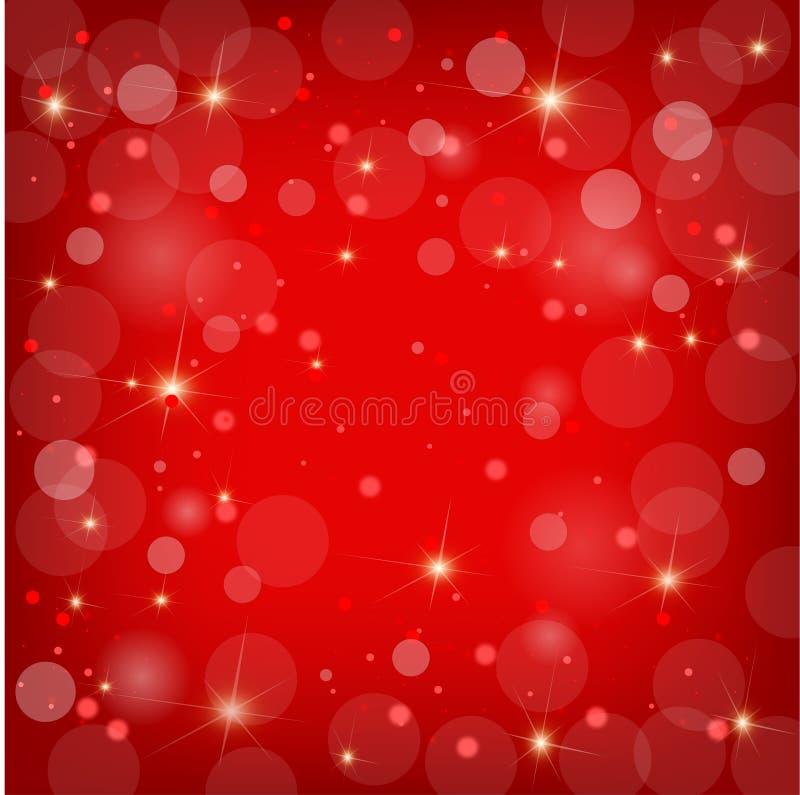Ładny czerwony bożego narodzenia tło ilustracja wektor