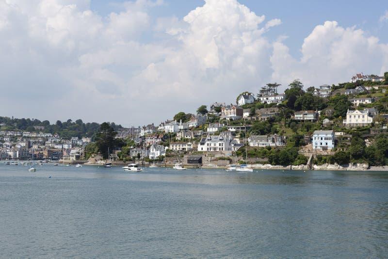 Ładny Dartmouth w Devon, południowy zachód UK zdjęcia royalty free