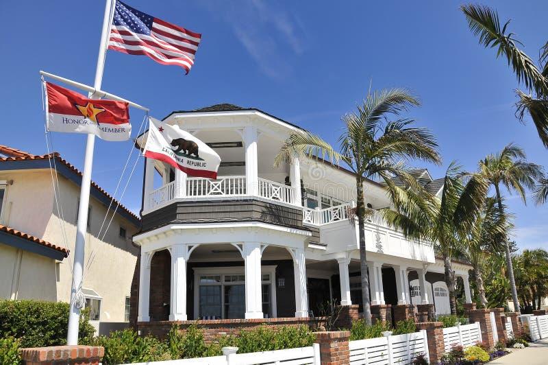 Ładny dom na Coronado wyspie zdjęcie royalty free