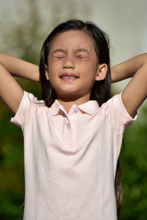 ?adny dziewczyny dziecka Relaksowa? zdjęcie stock