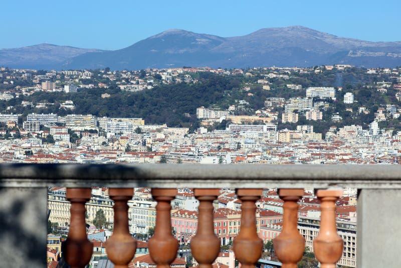 Ładny Francuski Riviera, CÃ'te d ` Azur, Eze, Cannes i Monaco, śródziemnomorski wybrzeże, święty, Błękitne wody i luksusu jachty fotografia royalty free