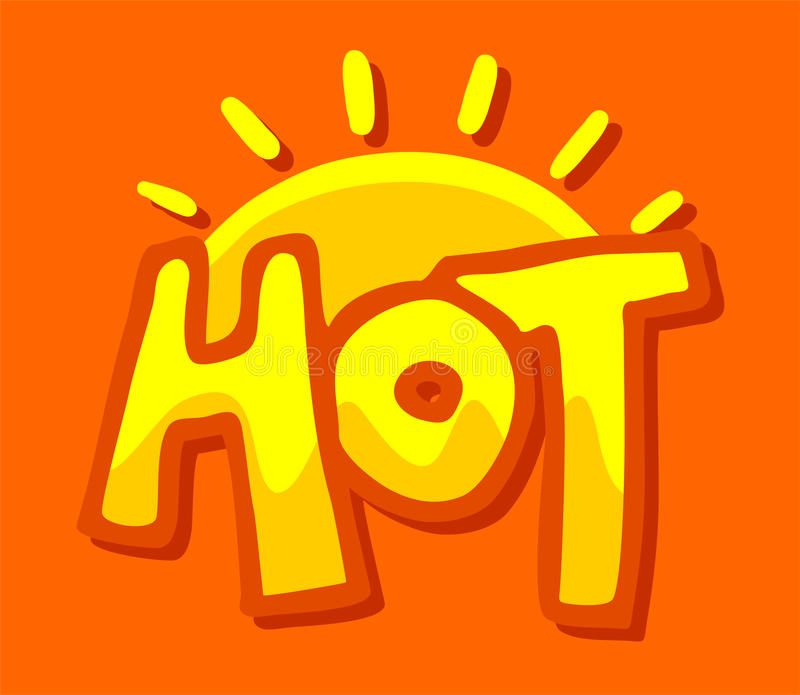 Ładny gorący symbol ilustracja wektor
