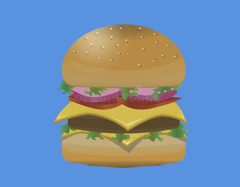 Ładny hamburger w świacie fotografia stock
