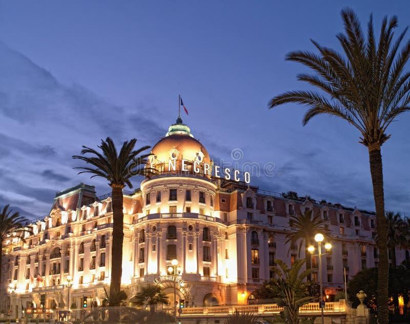 ładny hotelowy France negresco fotografia stock