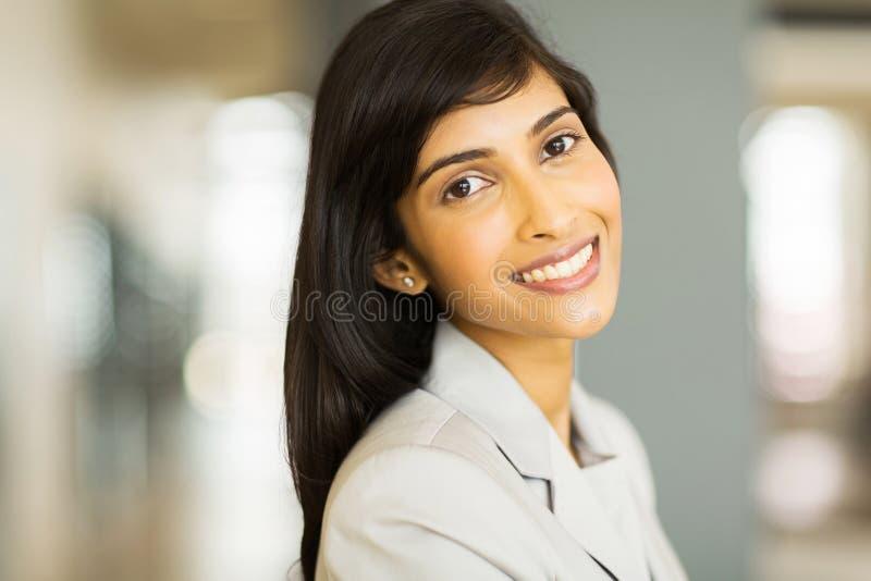 Ładny indyjski bizneswoman fotografia stock