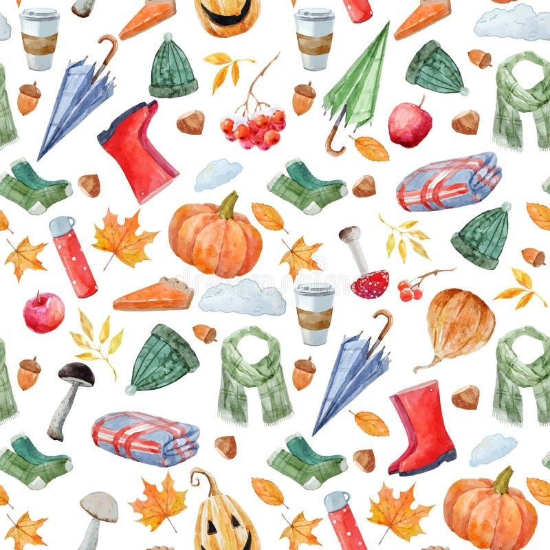 Ładny jesień wektoru wzór ilustracja wektor