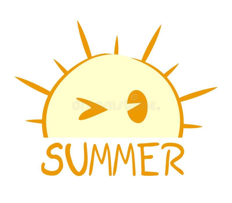 Ładny lato symbol ilustracji