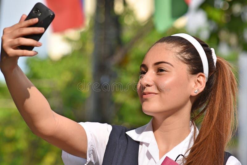 Ładny Latynoski Żeński Nastoletni Selfie zdjęcie stock