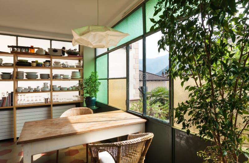 Ładny loft, kuchnia obraz stock