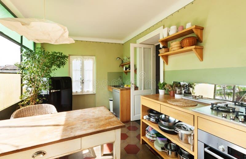 Ładny loft, kuchnia obraz royalty free