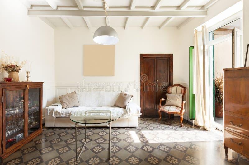 Ładny loft, wnętrze fotografia royalty free
