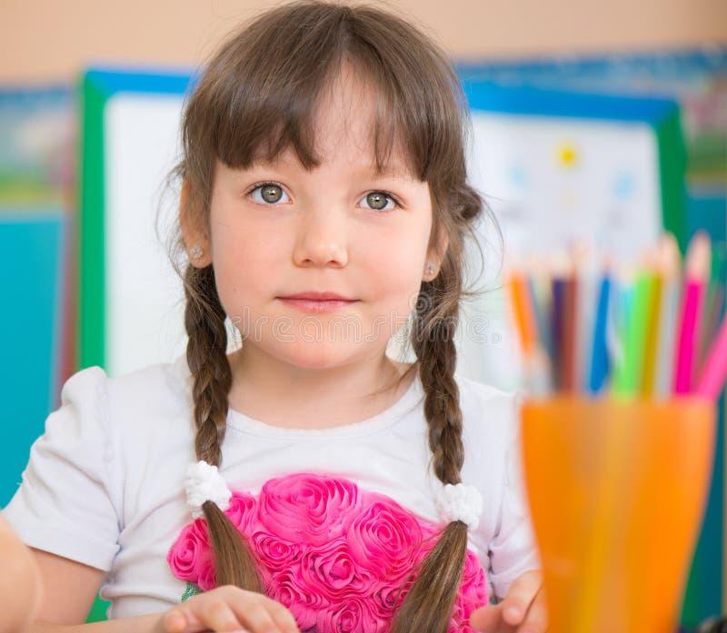 Ładny mała dziewczynka portret obraz stock