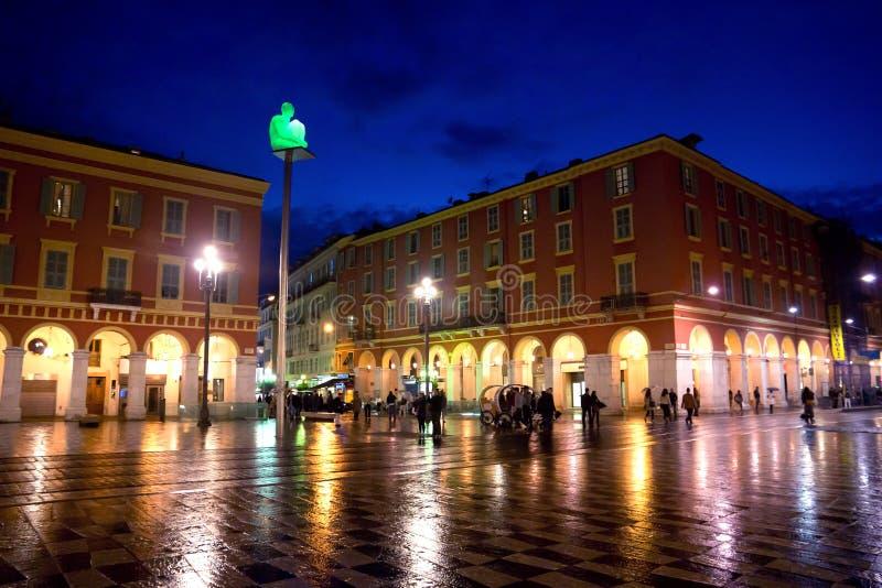 Ładny przy nocą - miejsce Massena zdjęcia stock