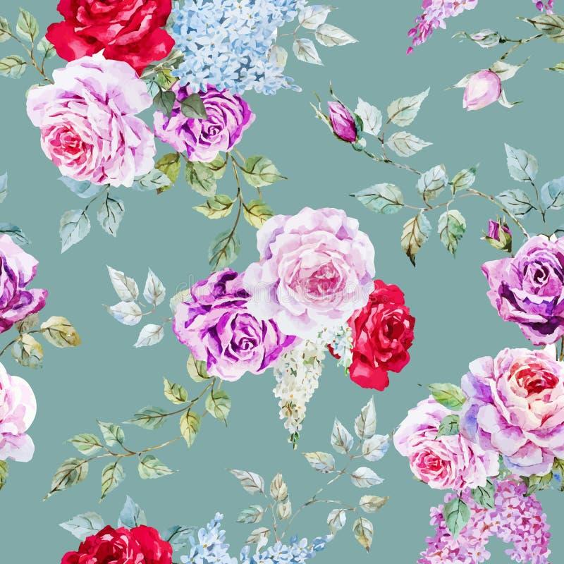 Ładny róża wzór ilustracji