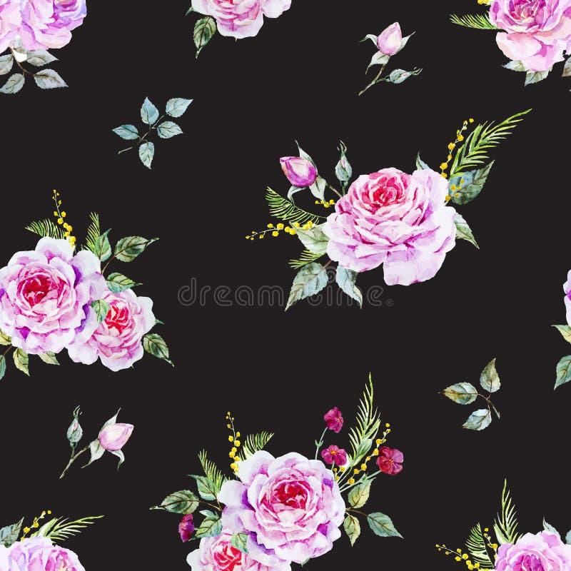 Ładny róża wzór royalty ilustracja