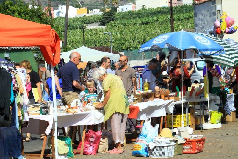 Ładny rynek na wyspa kanaryjska losie angeles Palma zdjęcie royalty free