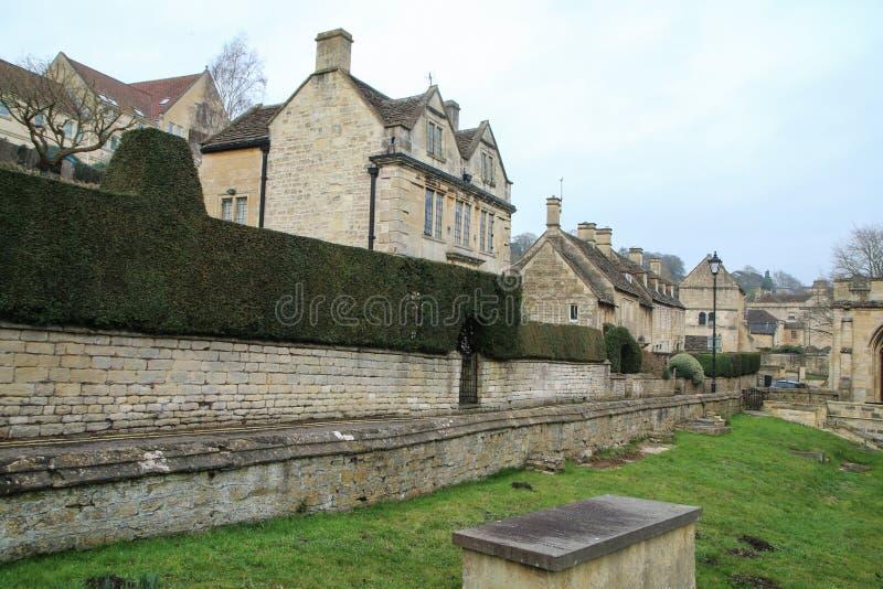 Ładny stary grodzki Bradford na Avon w Zjednoczone Królestwo fotografia stock