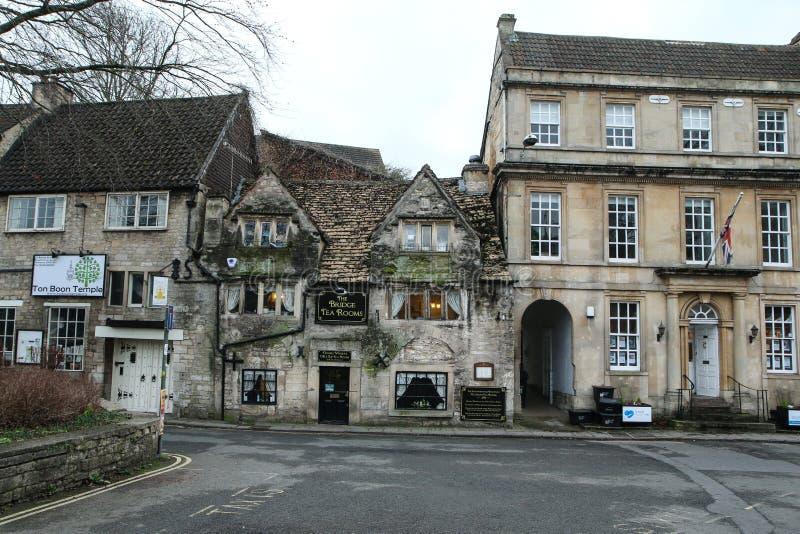 Ładny stary grodzki Bradford na Avon w Zjednoczone Królestwo zdjęcia royalty free