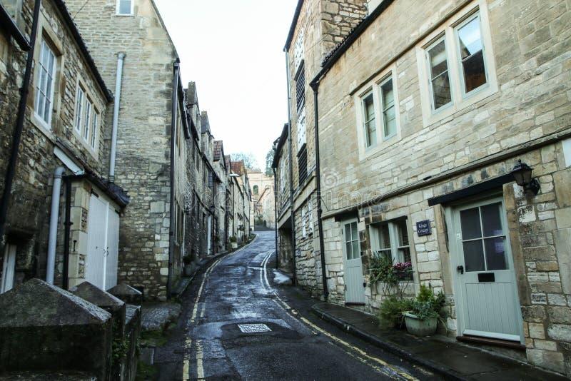 Ładny stary grodzki Bradford na Avon w Zjednoczone Królestwo obrazy royalty free